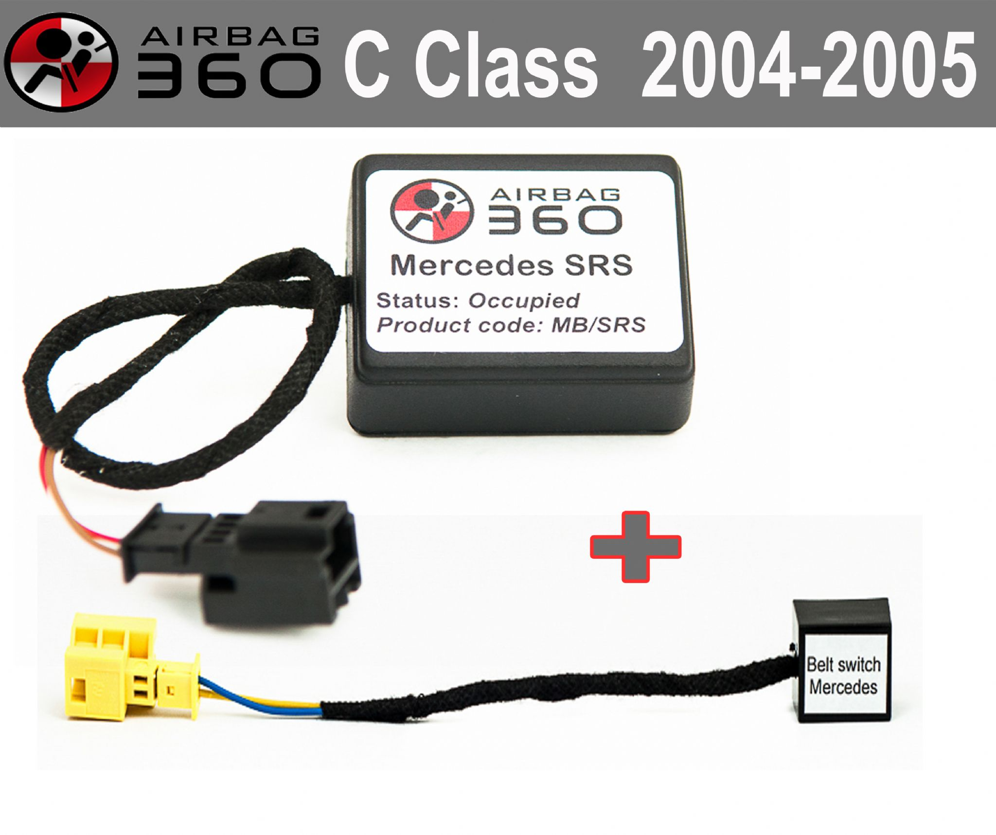 FRONT Passenger Seat Occupancy Mat Sensor Airbag emulator for MERCEDES C-w203